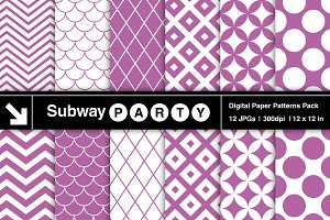 Purple Retro Geometric Papers