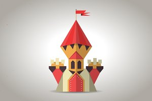 Cute origami castle from paper