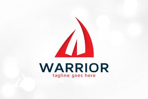 Warrior Letter W Logo Template