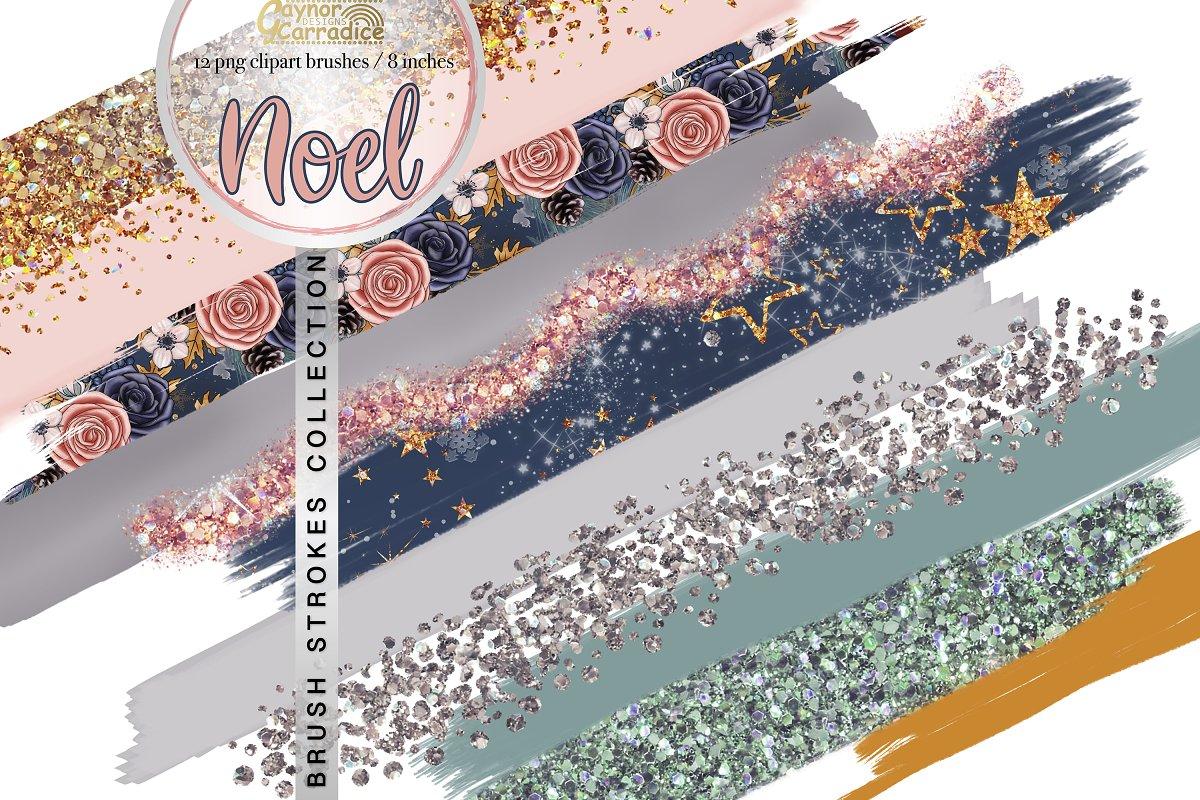 Noel Image.Noel Winter Brush Clipart