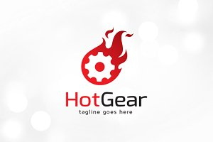 Hot Gear Technology Logo Template