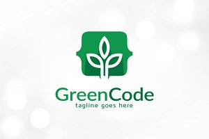 Green Code Logo Template