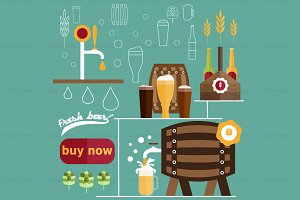 illustration of  beer theme