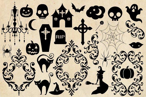 Halloween Silhouettes Pre Designed Photoshop Graphics Creative Market