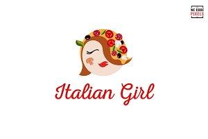 Italian Girl Logo Template
