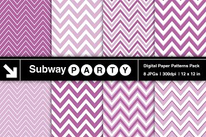 Purple Orchid Chevron Digital Papers
