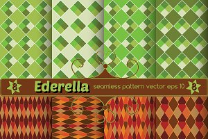 Set of 8 seamless vector patterns