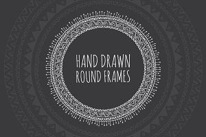 Hand Drawn Decorative Round Frames