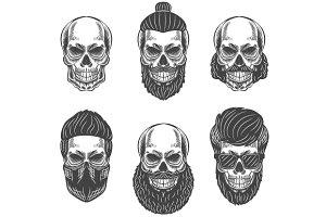 Dotwork skulls