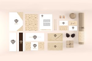 Organic Stationery/Branding Mock-Up