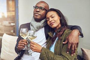 Ethnic couple in love