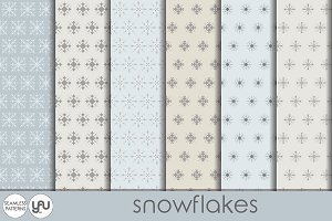 Christmas digital paper: SNOWFLAKES