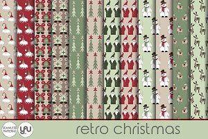 Christmas digital paper: RETRO
