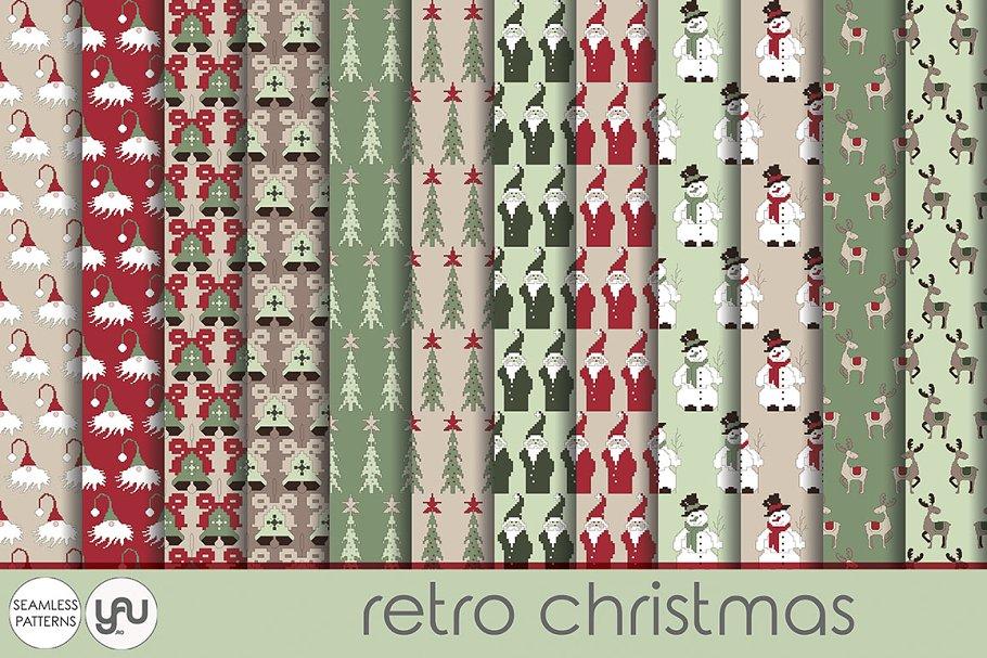 Christmas Scrapbook Paper.Christmas Digital Paper Retro