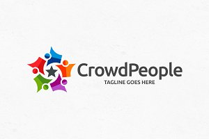 Crowd People Logo Template