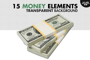 MONEY PACKS Isolated Elements
