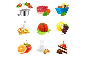Food vector icons