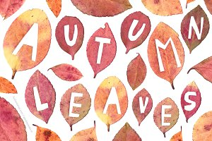 Autumn Leaves handmade letters