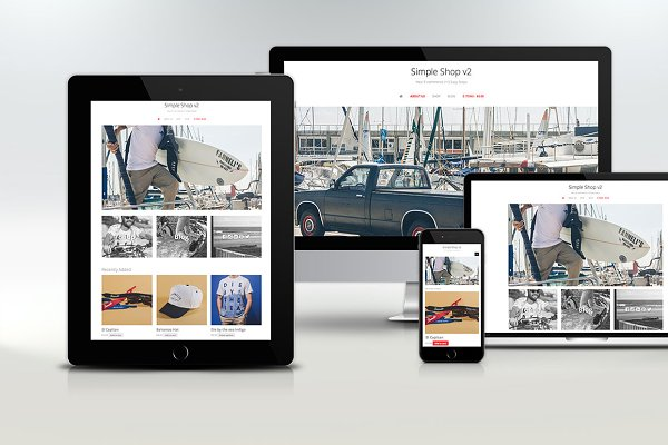 WordPress eCommerce Themes: creativebythesea - SimpleShop WooCommerce + WP