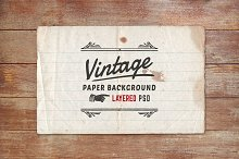 Vintage Paper Background Layered PSD