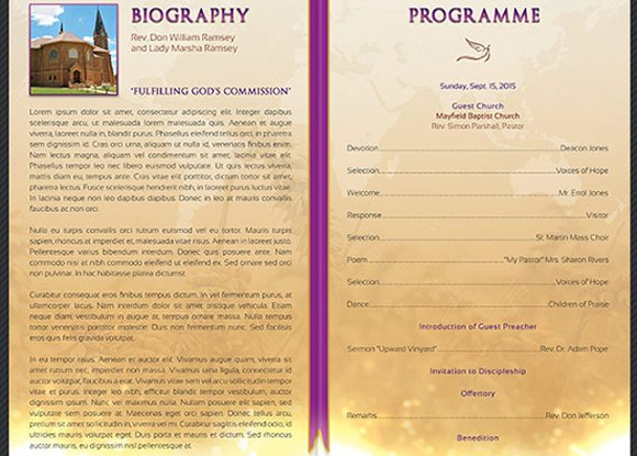 Clergy Anniversary Service Program ~ Templates ~ Creative Market