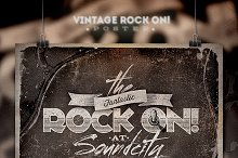 ROCK ON! Vintage Poster/Flyer