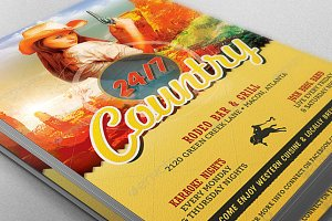 Country Bar Grill Flyer Template