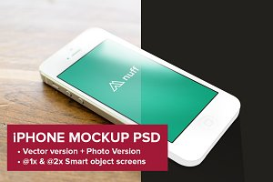 iPhone 5 Mockup - Photo & Vector