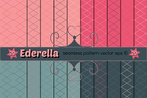 Set of  20 seamless vector pattern