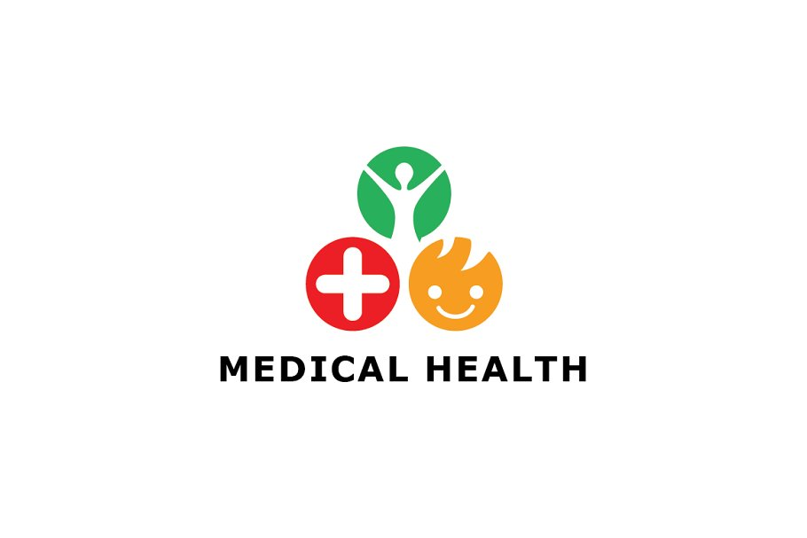 Trio Medical Health Logo Template