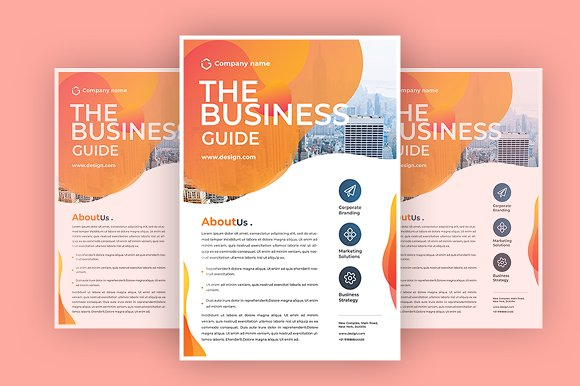 The Business Guide in Flyer Templates - product preview 1