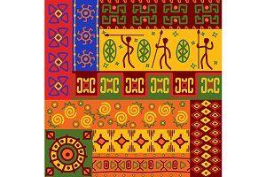 Abstract ethnic patterns and ornamen