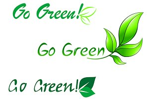Go green symbols