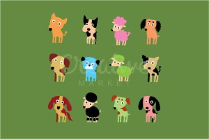 Cute Puppies Vector