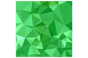 Inchworm Green Abstract Low Polygon