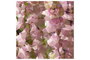 Lavender Rose Pink Abstract Low Poly