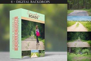 Country Roads - III - 4 Backdrops