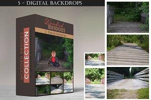 Wooded Bridges - Digital Backdrops