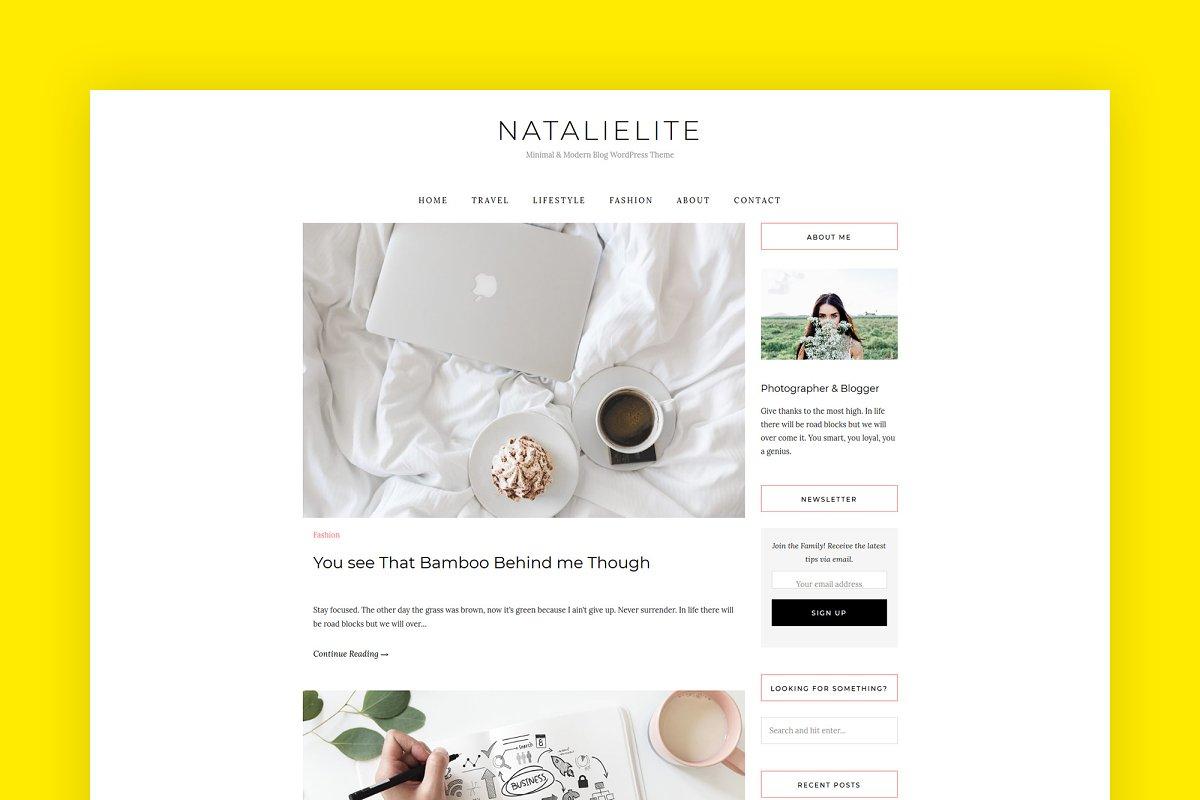NatalieLite A WordPress Theme Blog