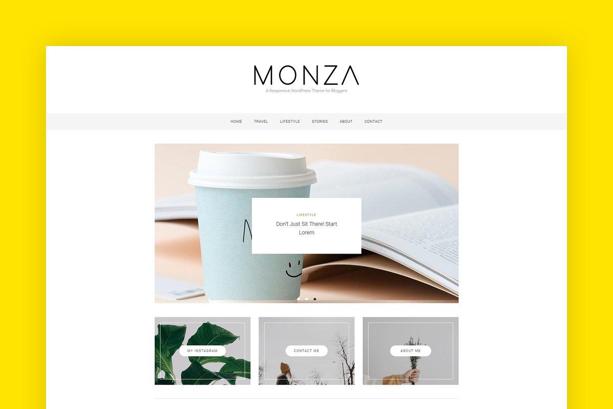 Monza WordPress Blog Theme