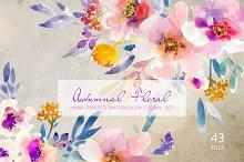 Autumnal Floral- Watercolor Clipart