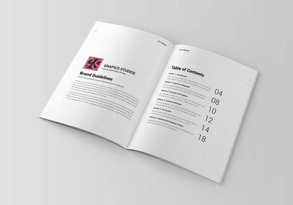 Brand Manual Template Vol 2 Brochure Templates on Creative Market – Manual Design Templates