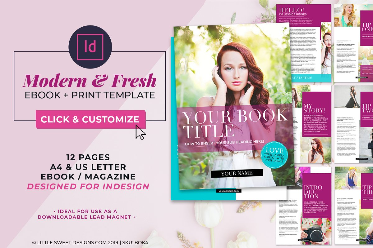 Magazine / eBook Template InDesign in Magazine Templates - product preview 8