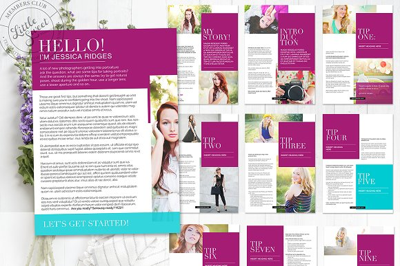 Magazine / eBook Template InDesign in Magazine Templates - product preview 7