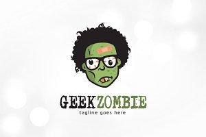 Geek Zombie Logo Template