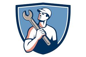 Tradesman Mechanic Spanner Crest Ret