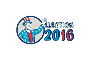 Election 2016 Uncle Sam Hand Up Circ