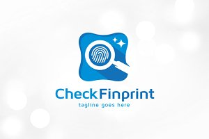 Check Fingerprint Logo Template