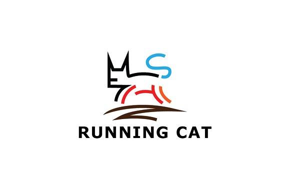 Running Cat Logo Template Creative Illustrator Templates Creative Market