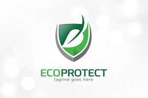 Eco Protect Logo Template